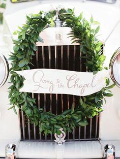 wreath. banner.