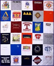 t-shirt quilts! what a great way to remember......