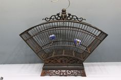 Chinese Redwood Carving Birdcage