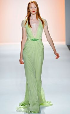 lime green gown