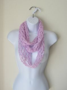 INFINITY SCARF in Beautiful Orchid Color. Soft by Bluetulipgifts, $21.00