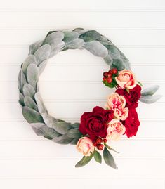 a pretty flower wreath