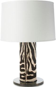 Ralph Lauren Zebra Lamp Inspiring Hollywood Interior Design Accents, Courtesy of InStyle-Decor.com Beverly Hills for Interior Design Fans to Enjoy