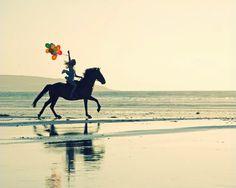 horse & balloons