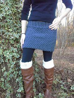 Easy Crochet Skirt.