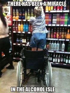 There Has Been A Miracle In The Alcohol Isle