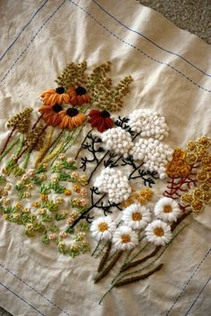 lovely flowers to embroider