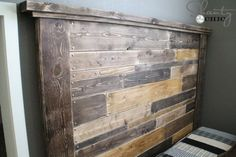 DIY-Nailhead-Headboard Maybe for our bedroom using door frame?