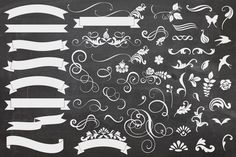 Banners & Curls by MelsBrushes on Creative Market