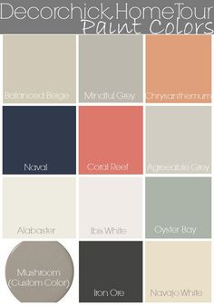 Decorchick Paint Colors and Home Tour | www.decorchick.com