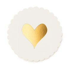 Gold Heart Scallop Coaster | Sugar Paper Los Angeles