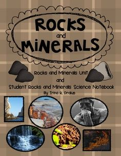 Everything Rocks and Minerals Unit…Student Notebook included. Grades 2-3 $