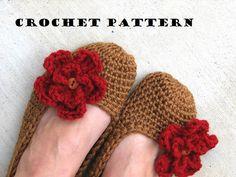 Adult Slippers Crochet Pattern PDF,Easy, Great For Beginners, Shoes Crochet Pattern Slippers, Patter on Luulla