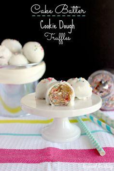 Funfetti Cookie Dough Truffles | My Cooking Spot