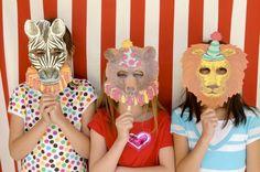 Circus masks! #socialcircus