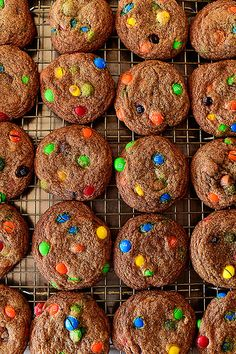 Browned Butter M&M Cookies. Dark, rich, and lovely.