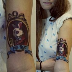 This tribute to Alice in Wonderland: | The 26 Coolest Animal Tattoos From Russian Artist Sasha Unisex