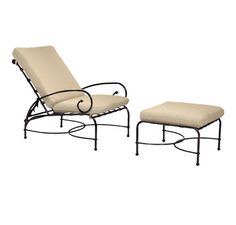 Chaise longue en fer forgé transat mobilier de jardin meubles de terrasse