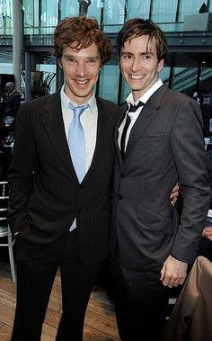 Benedict Cumberbatch and David Tennant :D