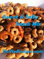 Thrifty Recipes: Sweet & Salty Snack Mix with Cheerios
