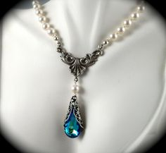 Love this necklace. Could be my something blue too. It is from etsy Azure Treasures