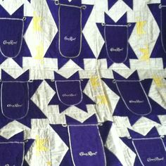 Crown Royal quilt that my dad got at a fund raiser! lol that's sweet! www.AnimasQuilts.com