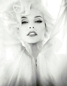 Milla Jovovich by Ellen von Unwerth for Madame Figaro, 2012 ('Sublime Marilyn').