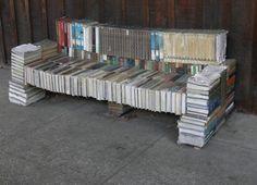 Unique book bench