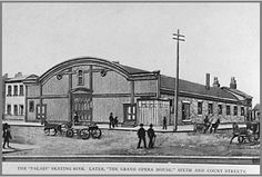 The first skating rink built was located on the northwest corner of 6th and Court and was called the Palais. The second rink was the Monarch which was located on Washington Street. Others that followed were the Richardson and Massie Hall. The most popular was the rink at Millbrook Park pavilion in New Boston.