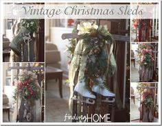 Vintage Christmas Sleds - Finding Home