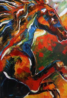 Horse of Fire by #Texas Artist Laurie Pace, Equine Art