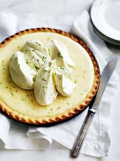 Summer Solstice:  #Key #Lime #Pie, for the #Summer #Solstice.