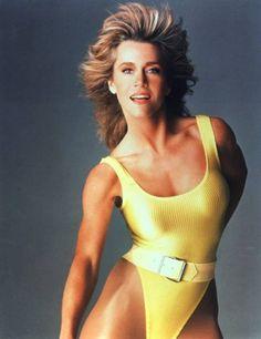 Jane Fonda aerobics, when woman dressed sexy at the gym