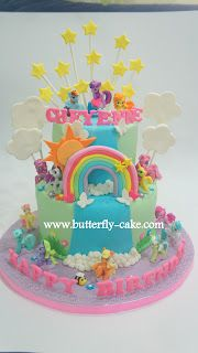 My Little Pony Cake on Pinterest  Cake Toppers, Rainbow Cakes and Mlp