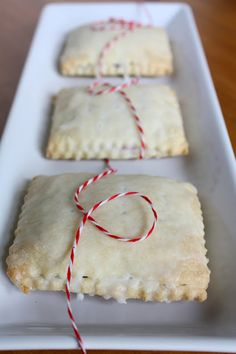Homemade Pop Tarts ~ Strawberry? Blueberry? You choose your favorite fruit or maybe a combination of fruits. I like to make them big enough to warm in the toaster.