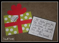 The First Gift of Christmas {Craftivity} the first gift of christmas, classroom, christma activ, school, gifts, polar express, teach, decemb, holidaysgift idea