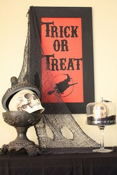 make a trick or treat sign.