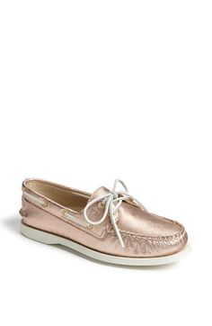 rose gold sperry's