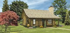 Bay View II - Log Homes, Cabins and Log Home Floor Plans 780 SF