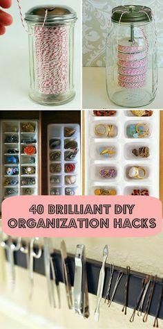 40 diy home organization ideas