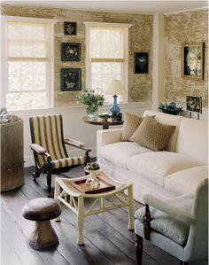 Cottage decor: Living room   via Domaine