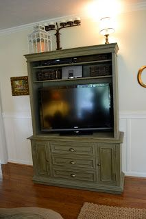 Buzzings of a Queen Bee: Our Brilliant Idea for TV Storage! / love this creative idea!