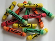 Edible Pretzel Crayons For class treat