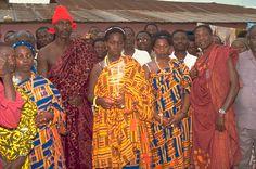 Trajes tipicos de Ghana Africa