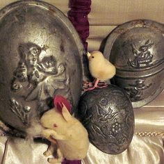 antique chocolate egg moulds
