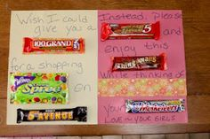 Candy Bar Poem (says for Mother's day but I may use it for teacher appreciation)
