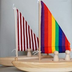 Wooden Toy Sailboats. Made in Maine!