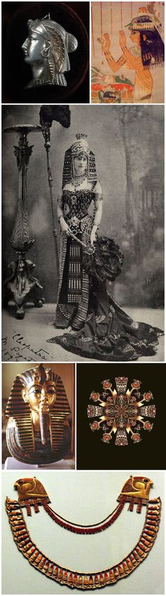 Egyptian - History of Fashion  Egyptian inspired garment and accessories.