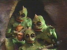 Slee stacks!!!   Land of the Lost - old school. Seriously scared me every time they showed them. lol