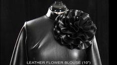 Tawni Haynes Leather Flower Blouse.
